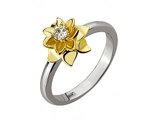 Золотое кольцо с бриллиантами 5б_к-122 фотография