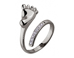 Золотое кольцо с фианитом 2б_к-126 фотография