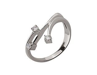 Золотое  кольцо с бриллиантом 01-17648400 фотография