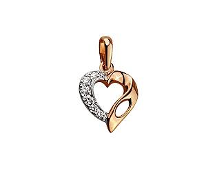 Золотий кулон з діамантами 8п-041 фотографія