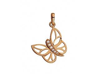 Золотой кулон с циркониями 1б_п-061 фотография