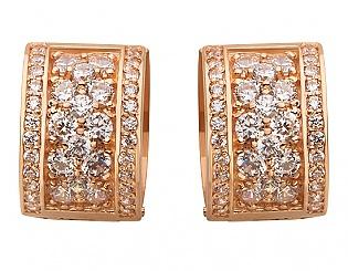 Золоті сережки з фіанітами 1б_с-083 фотографія