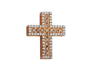 Золотой кулон с бриллиантами 8б_п-154 фотография
