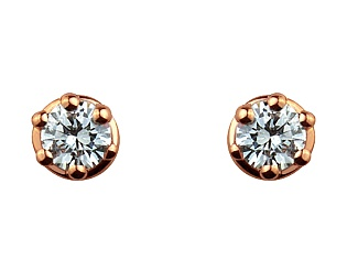 Золоті сережки з цирконіями 1-с-694 фотографія