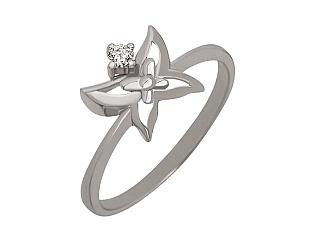 Золотое кольцо с бриллиантом 2-к-1606 фотография