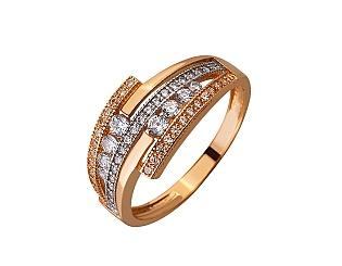 Золотое кольцо с цирконием куб. 01-17635601 фотография