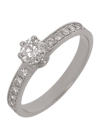 Золотое кольцо 585 пробы с бриллиантами (15-000087221)
