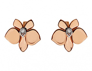 Золоті сережки з фіанітом 8б_с-088 фотографія
