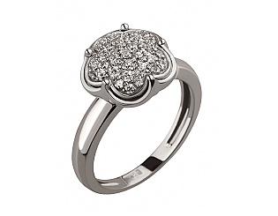 Золотое кольцо с цирконием куб. и фианитом 2б_к-127 фотография
