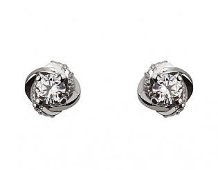 Золоті сережки з діамантами 2б_с-078 фотографія