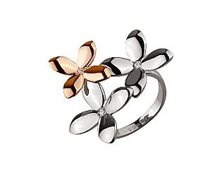 Золотое кольцо с фианитами 4б_к-144 фотография