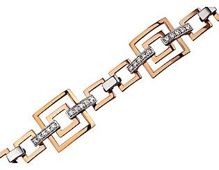 Золотий браслет з фіанітами 4б-017 фотографія