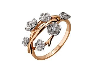 Золота каблучка з діамантами 4б_к-119 фотографія