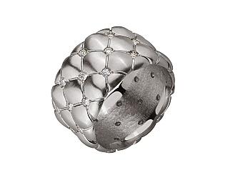 Золота каблучка з діамантами 2б_к-049 фотографія
