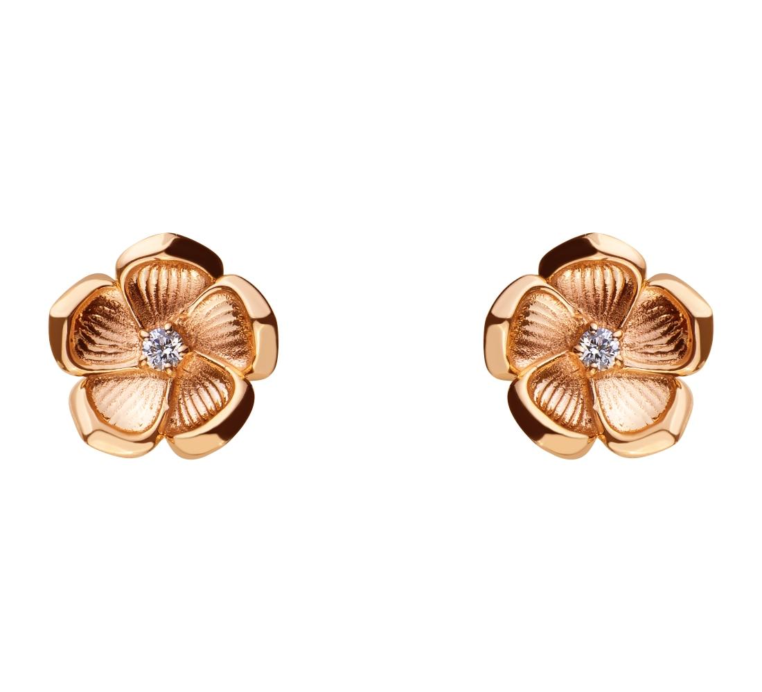 Золоті сережки з діамантами 1б_с-062 фотографія