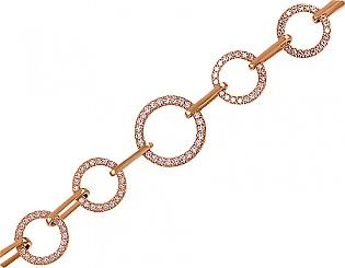 Золотой браслет с фианитами 1б-024 фотография