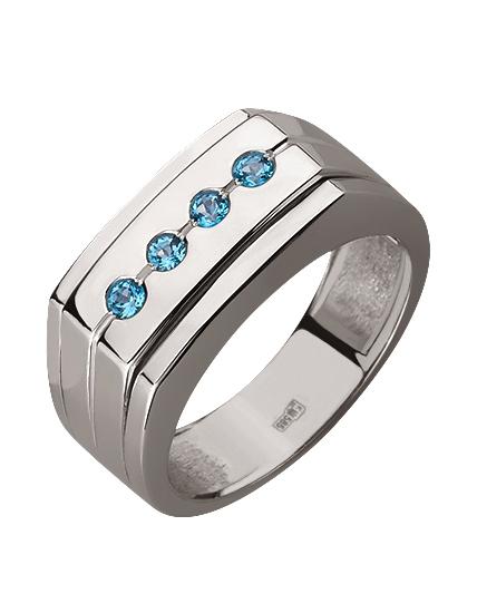 Золотой перстень 585 пробы с топазами (15-000070499)