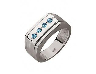 Золотое кольцо с топазами 2к-272 фотография