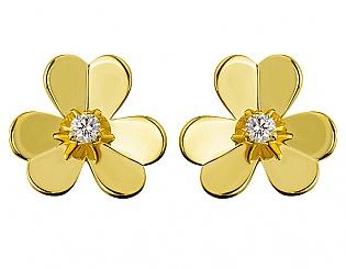 Золоті сережки з діамантами 3б_с-069 фотографія
