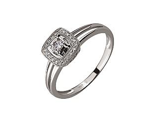 Золота каблучка з діамантами 01-17656503 фотографія