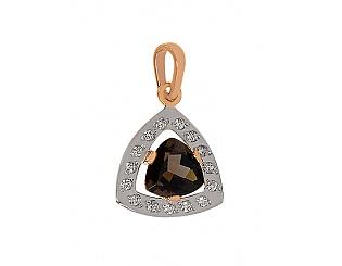 Золотий кулон з цирконієм куб. і кварцом 8п-089 фотографія