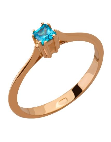 """Золотое кольцо 585 пробы с фианитом (15-000071785) """"Ювелирная карта"""""""