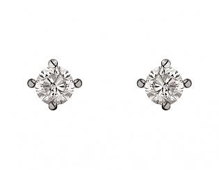 Золоті сережки з діамантами 2б_с-091 фотографія