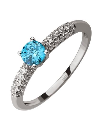 Золотое кольцо 585 пробы с фианитами (15-000088606)