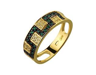 Золотое кольцо с фианитами 12б_к-040 фотография