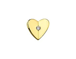 Золотий кулон з фіанітами 01-16918804 фотографія