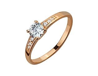 Золотое кольцо с фианитом 1-к-1782 фотография