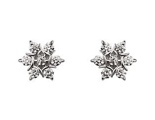 Золоті сережки з діамантами 2б_с-064 фотографія