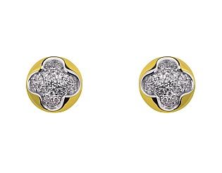 Золоті сережки з фіанітами 9с-163 фотографія