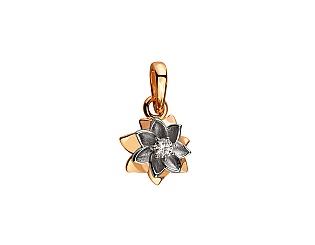 Золотий кулон з діамантами 4б_п-110 фотографія