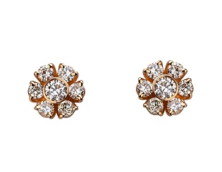 Золоті сережки з діамантами 1б_с-092 фотографія