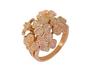 Золотое кольцо с фианитами и циркониями 1б_к-046 фотография