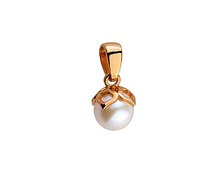 Золотий кулон з перлиною 1б_п-043 фотографія