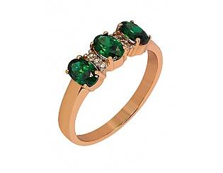 Золотое кольцо с фианитами 1-к-1329 фотография