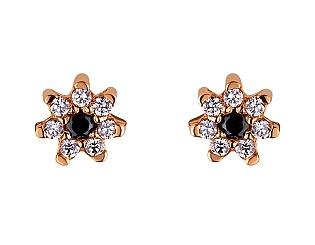 Золоті сережки з фіанітами 01-17506405 фотографія