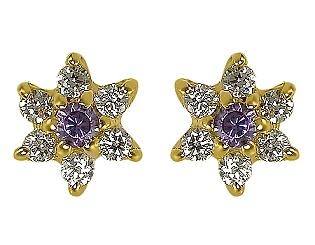 Золоті сережки з цирконієм куб. 01-17522605 фотографія