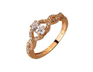 Золота каблучка з цирконієм куб. 01-17624605 фотографія