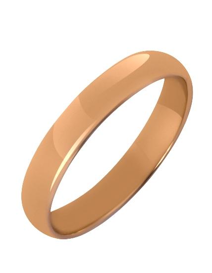 """Золотое обручальное кольцо 585 пробы (15-000085191) """"Ювелирная карта"""""""