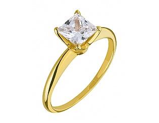 Золотое кольцо с фианитами 3б_к-103 фотография