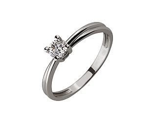 Золотое кольцо с бриллиантом 01-17579006 фотография