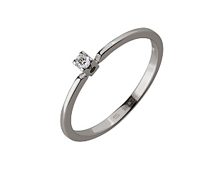 Золота каблучка з діамантом 01-17668706 фотографія