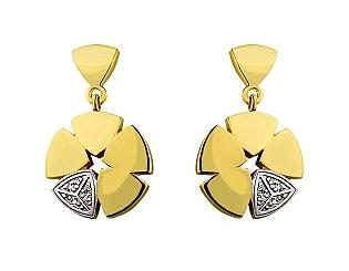 Золоті сережки з фіанітами 9б_с-116 фотографія