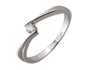 Золотое кольцо с бриллиантом 2к-079 фотография
