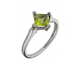 Золотое кольцо с хризолитом 2б_к-104 фотография