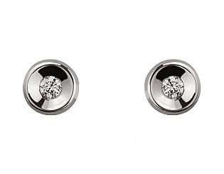 Золоті сережки з діамантами 2б_с-077 фотографія