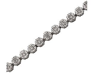 Золотой браслет с бриллиантами 01-17380307 фотография